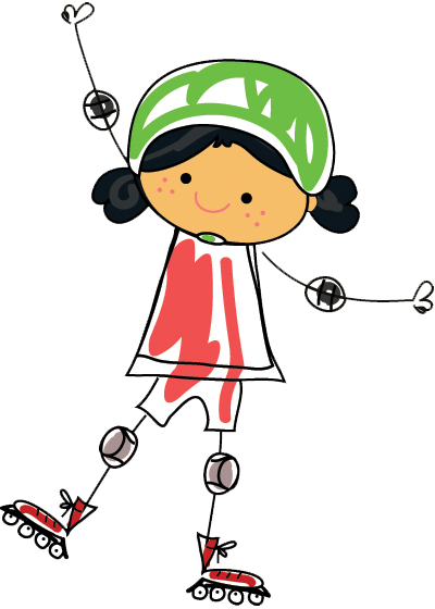fille en rollerblade